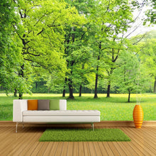 Load image into Gallery viewer, Custom Wall Mural Wallpaper Green Forest 3D Photo Background Wall Decorations Living Room Sofa Bed Room Modern Straw Wallpaper - WallpaperUniversity
