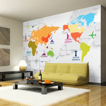 Load image into Gallery viewer, Custom 3D Photo Wallpaper 3D Stereoscopic World Map Wallpaper For Kids Room Living Room Wall Mural Wallpaper Papel De Parede 3D - WallpaperUniversity