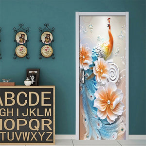 Modern Simple Abstract Art Color Peacock Background Wall Home Decoration Living Room Door Sticker PVC Waterproof Mural Wallpaper - WallpaperUniversity