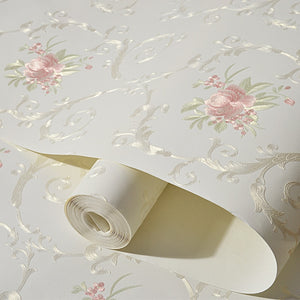 COUNTRY FRENCH WILD ROSES Wallpaper Wall Covering - WallpaperUniversity