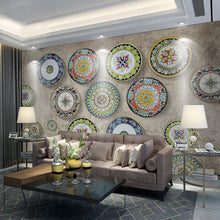 Load image into Gallery viewer, Custom Wall Mural Wallpaper Bohemian European Classical Style Fashion Flower Pattern Marble Tile Large Murals Wallpaper Painting - WallpaperUniversity
