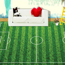 Load image into Gallery viewer, Custom Mural Green Football Field Lawn Lvyinchang Living Room Bedroom Children's Room 3D PVC Floor Mural Self-adhesive Wallpaper - WallpaperUniversity