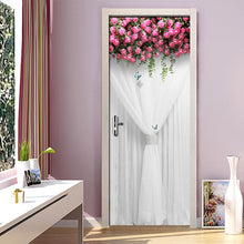 Load image into Gallery viewer, Wedding Rose Girl Bedroom Parlor Door Sticker 3D Wall Paper Mural PVC Waterproof Self-adhesive Door Sticker Papel De Parede - WallpaperUniversity