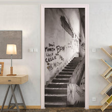 Load image into Gallery viewer, Modern Abstract Graffiti Art Wall Painting Wall Graffiti Stairs 3D Mural Wall Paper Living Room Bedroom Door Decoration Sticker - WallpaperUniversity