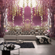Load image into Gallery viewer, Custom Photo Wallpaper Wonderland Fantasy Flower Vine Trees Wallpaper Roll Minimalist Modern Papel De Parede 3D Mural Wall paper - WallpaperUniversity