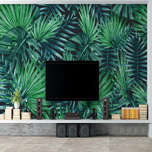 Load image into Gallery viewer, Custom Photo Wallpaper Nordic Hand Painted Rainforest Plants Green Leaves Living Room TV Background 3D Wall Murals Wallpaper - WallpaperUniversity