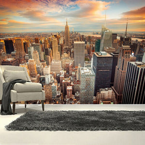 Custom 3D Wallpaper Murals USA Skyscrapers New York City Building Wall Painting Bedroom Living Room Sofa Wall Papers Home Decor - WallpaperUniversity