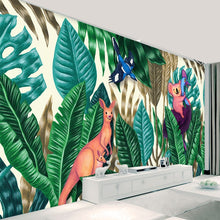 Load image into Gallery viewer, Custom Any Size 3D Photo Wallpaper Rain Forest Plants Cartoon Animal Children's Room Bedroom Wallpaper Non-woven Mural Wallpaper - WallpaperUniversity