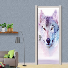 Load image into Gallery viewer, Modern Minimalist Abstract Snow Wolf Living Room Bedroom Door Mural PVC Waterproof Self-adhesive Fresco Sticker 3D Wallpaper - WallpaperUniversity
