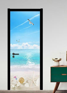 BEACH DREAMING Door Mural - WallpaperUniversity
