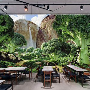 Custom Photo Wallpaper 3D Green Fresh garden Vegetable Mural Wallpaper Living Room Sofa Background Modern Seamless Wall Covering - WallpaperUniversity