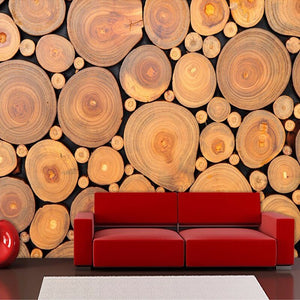 Custom Mural Wallpaper 3D Non-woven Wood Grain Growth Rings European Retro Wall Decorations Living Room Bed Room Wallpaper 3D - WallpaperUniversity