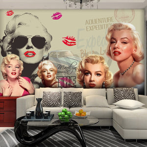 Custom Photo Mural Wallpaper Classic Movie Star 3D Poster Wall Painting Bedroom Living Room Background Wall Papers Home Decor - WallpaperUniversity