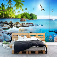 Load image into Gallery viewer, Custom Wall Mural Paper Beautiful 3D Seascape Island Poster Photo Wallpaper Living Room Bedroom Home Decoration Wall Painting - WallpaperUniversity