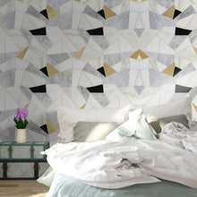 Load image into Gallery viewer, Custom Any Size 3D Wall Mural Wallpaper Modern Simple Abstract Geometric Polygonal Pattern Marble Backdrop Wall Photo Wall Paper - WallpaperUniversity