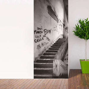 Modern Abstract Graffiti Art Wall Painting Wall Graffiti Stairs 3D Mural Wall Paper Living Room Bedroom Door Decoration Sticker - WallpaperUniversity