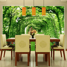 Load image into Gallery viewer, TREE TUNNEL GARDEN Wall Mural - WallpaperUniversity