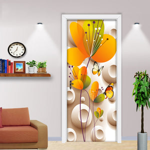 Modern Simple Fashion 3D Stereoscopic Flower Butterfly Wall Stickers DIY Mural Wallpaper For Bedroom Living Room Door Sticker 3D - WallpaperUniversity