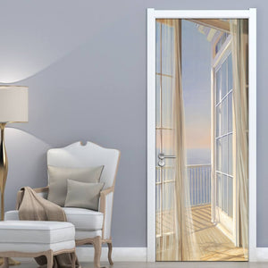 BALCONY BREEZE Door Mural - WallpaperUniversity