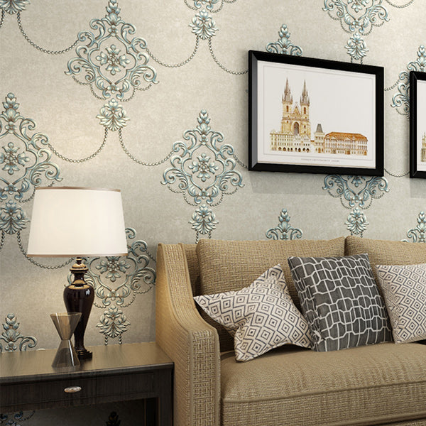 FRENCH GOTHIC EMBOSSED Wallpaper Wall Covering - WallpaperUniversity