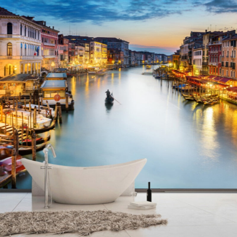 Custom Photo Wallpaper 3D Wall Murals Wallpaper For Living Room Bedroom Background Walls 3D Home Decor Wallpaper In Venice City - WallpaperUniversity
