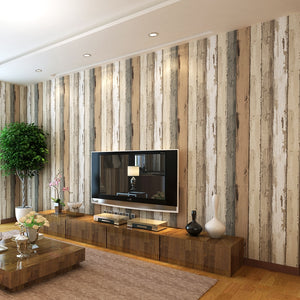 WOOD STRIPED VINTAGE Wallpaper Wall Covering - WallpaperUniversity