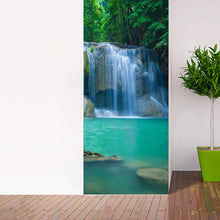 Load image into Gallery viewer, Waterfall Living Room Bedroom 3D Door Sticker Waterproof Wall Paper Door Stickers PVC Self-adhesive Mural Wallpaper Home Decor - WallpaperUniversity