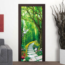 Load image into Gallery viewer, Custom Photo Wallpaper Murals 3D Forest Small Road Nature Landscape Large Wall Painting PVC Self-adhesive Door Mural Sticker - WallpaperUniversity