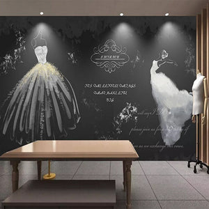 Custom 3D Photo Wallpaper Retro White Wedding Dress Non-woven Mural Living Room TV Background Wall Stickers Home Wall Decoration - WallpaperUniversity