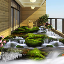 Load image into Gallery viewer, Creek River Waterfall 3D Bathroom Mural PVC Waterproof Living Room Balcony Floor Decor Sticker Painting Custom 3D Wallpaper Roll -