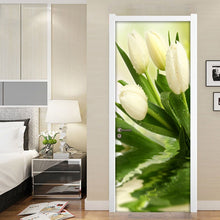 Load image into Gallery viewer, Modern 3D Photo Wallpaper For Walls Roll Tulips Flower Living Room Bedroom Door Decoration Mural Sticker Wall Paper Flowers PVC - WallpaperUniversity