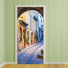 Load image into Gallery viewer, Italian Town Street View Door Mural Wallpaper For Living Room Bedroom Door Sticker Decoration Self-Adhesive Waterproof Tapety - WallpaperUniversity