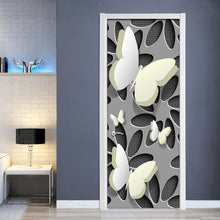Load image into Gallery viewer, Modern Simple Abstract Stereoscopic Butterfly Living Room Bedroom Door Mural PVC Waterproof Self-adhesive Wallpaper Sticker 3D - WallpaperUniversity