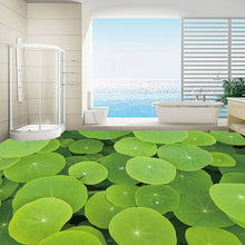 Load image into Gallery viewer, Custom 3D Floor Wallpaper Lotus Leaf Floor Sticker Bathroom Living Room Bedroom Mural Self-adhesive Waterproof Photo Wallpaper - WallpaperUniversity