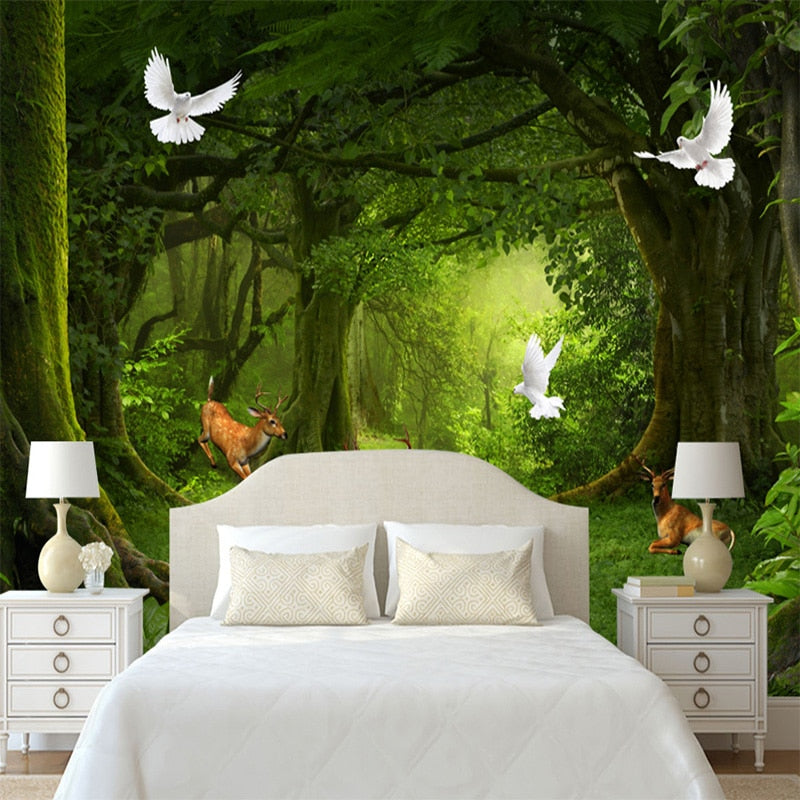 FOREST CLEARING Wall Mural - WallpaperUniversity