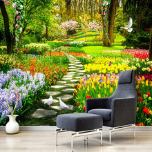 Load image into Gallery viewer, Custom Wall Mural 3D Garden Park Small Road Scenery Photography Background Photo Wallpaper For Wall Painting Living Room Bedroom - WallpaperUniversity