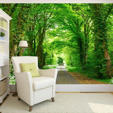 Load image into Gallery viewer, Custom Mural Painting Forest Green Trail TV Background Wall Decorative Painting Living Room Study Bedroom Wallpaper Home Decor - WallpaperUniversity