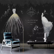 Load image into Gallery viewer, Custom 3D Photo Wallpaper Retro White Wedding Dress Non-woven Mural Living Room TV Background Wall Stickers Home Wall Decoration - WallpaperUniversity