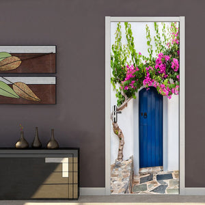 PVC Waterproof Self-adhesive Door Sticker Wall Papers Home Decor Natural Landscape Large Murals Door Mural 3D Wallpaper Roll