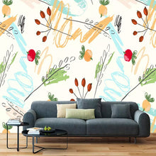 Load image into Gallery viewer, Nordic Fashion Leaf Leaves Fruit Photo Wallpaper Living Room  TV Background Wall Decoration Mural Wall Covering Papel De Parede - WallpaperUniversity