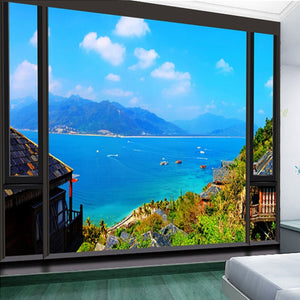 Custom Photo Wallpaper 3D Stereoscopic Seascape Modern Minimalist Living Room Non-woven Mural Wallpaper For Bedroom Walls 3D - WallpaperUniversity