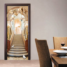 Load image into Gallery viewer, Angel Stairs European Style Living Room 3D Door Sticker Wall Mural Wallpaper PVC Waterproof Self-adhesive Door Stickers Painting - WallpaperUniversity