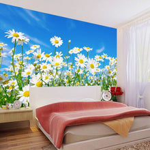 Load image into Gallery viewer, Custom Photo Wallpaper 3D Daisy Bedroom Living Room TV Background Mural Wallpaper Non-woven Modern Large Wall Painting Flowers - WallpaperUniversity