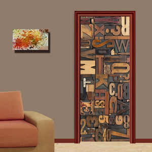 3D Stereoscopic English Letters Mural Wallpaper For Walls Roll Living Room Bedroom Door Sticker Self-adhesive Vinyl Wall Paper - WallpaperUniversity