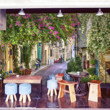 Load image into Gallery viewer, Custom Mural Wallpaper European Style Town Architectural Landscape Large Wall Painting Living Room Bedroom Wallpaper Flower Vine - WallpaperUniversity