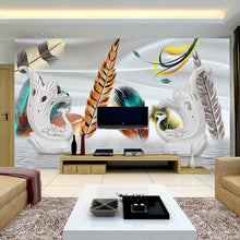 Load image into Gallery viewer, Custom Photo Wallpaper 3D Stereoscopic Peacock Feathers Large Murals Romantic Bedroom Living Room TV Backdrop Home Decor - WallpaperUniversity