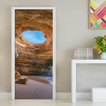 Load image into Gallery viewer, Rock Cave Seascape 3D Wallpaper Living Room Bedroom Door Decoration PVC Self Adhesive Waterproof Wall Sticker DIY Mural Tapety - WallpaperUniversity
