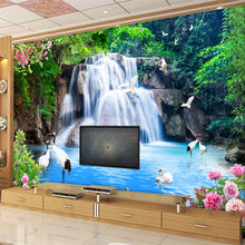 Load image into Gallery viewer, Custom 3D Wall Mural Wallpaper Mountain Water Waterfall Scenery 3D TV Background Wall Decorations Living Room Photo Wallpaper - WallpaperUniversity