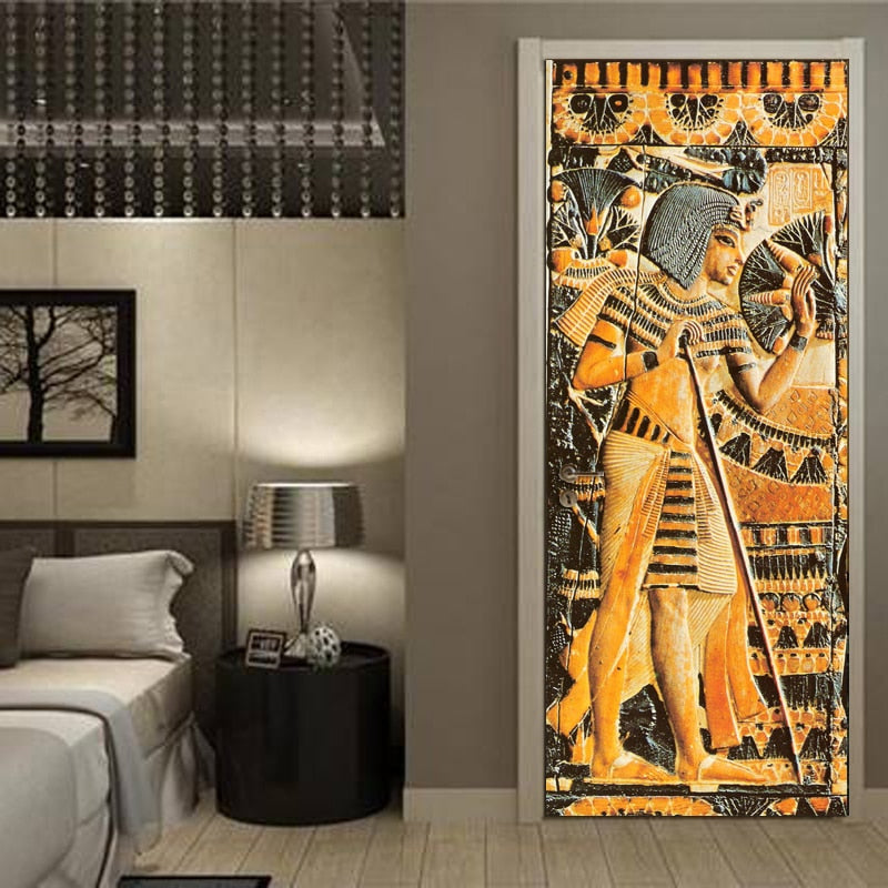 PHARAOH Door Mural - WallpaperUniversity