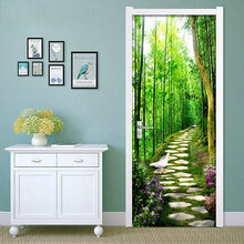 Load image into Gallery viewer, Bamboo Forest Small Road 3D DIY Mural Bedroom Door Stickers Wall Papers Home Decor Modern Wall Painting Vinyl Wallpaper Murals - WallpaperUniversity
